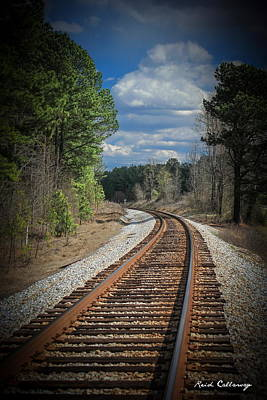Photograph - Just Around The Bend Railroad Tracks by Reid Callaway