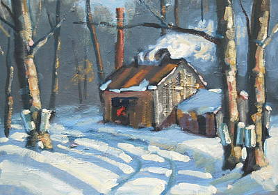 Early Spring Painting - Just Around The Corner by Len Stomski