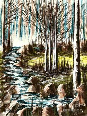 Just Around The Riverbend  Art Print