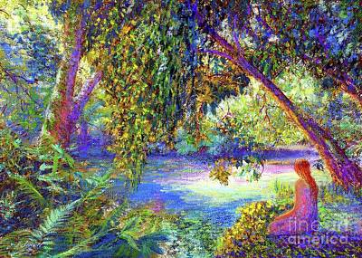 Impressionist Painting - Just Be by Jane Small