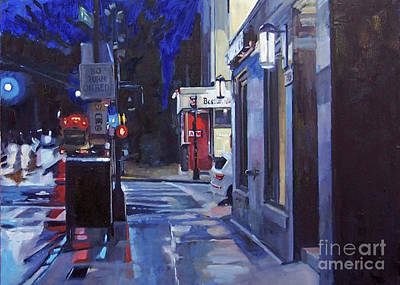 Southie Wall Art - Painting - Just Before Dawn by Deb Putnam
