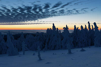 Photograph - Just Before Sunrise On The Brocken In The Harz Mountains by Andreas Levi