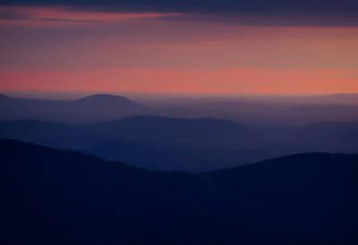 Wall Art - Photograph - Just Before Sunrise Thorofare Mountain Overlook Shenandoah by Martin Belan
