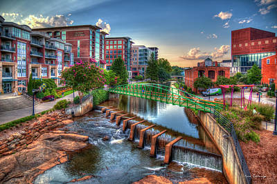 Photograph - Just Before Sunset 2 Reedy River Falls Park Greenville South Carolina Art by Reid Callaway