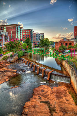 Photograph - Just Before Sunset Reedy River Falls Park Greenville South Carolina Art by Reid Callaway