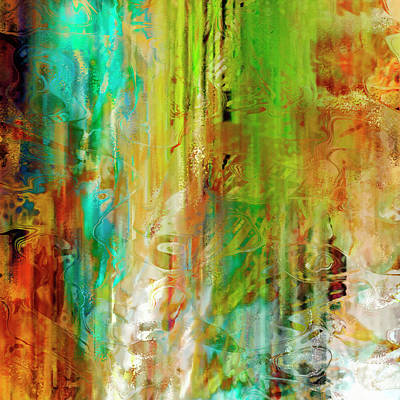 Digital Art - Just Being - Abstract Art - Diptych 1 Of 2 by Jaison Cianelli