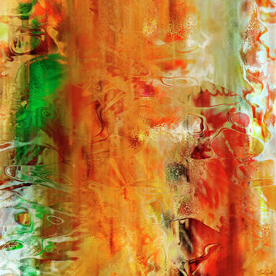 Digital Art - Just Being - Abstract Art - Diptych 2 Of 2 by Jaison Cianelli
