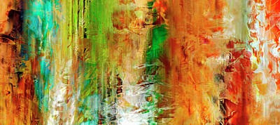 Art Print featuring the painting Just Being - Abstract Art by Jaison Cianelli