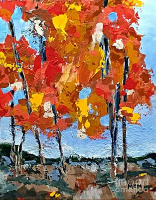 Painting - Just Beyond The Trees by Mary Mirabal