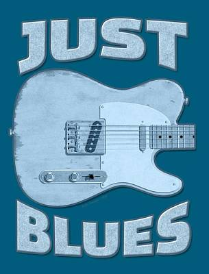 Digital Art - Just Blues Shirt by WB Johnston