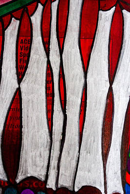 Painting - Just Bones - Ink Abstract by Marie Jamieson
