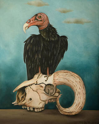 Bird Skeleton Painting - Just Bones by Leah Saulnier The Painting Maniac