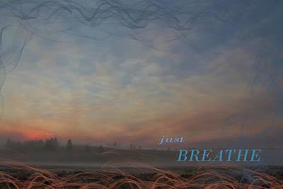 Just Breathe Art Print by Nadine Berg
