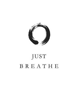 Relax Mixed Media - Just Breathe by Studio Grafiikka