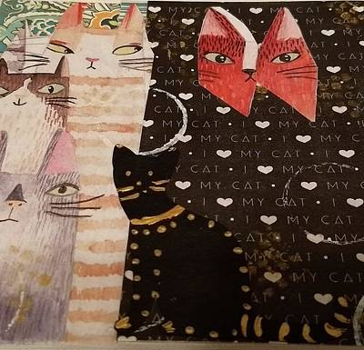 Mixed Media - Just Cats by Rosemary Augustine