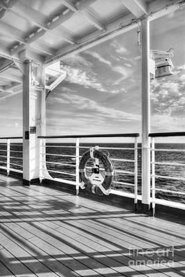 Photograph - Just Cruising Bw by Mel Steinhauer