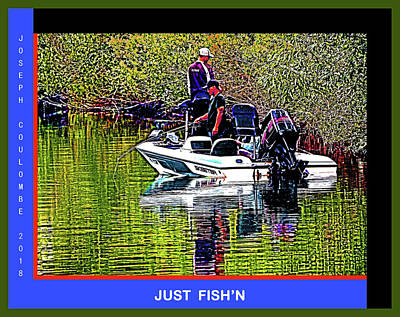 Digital Art - Just Delta Loop Fish'n by Joseph Coulombe