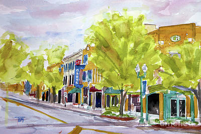 Painting - Just Down The Street by Tim Ross