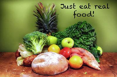 Just Eat Real Food Art Print