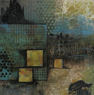 Squares Mixed Media - Just Embrace It  by Laura Lein-Svencner