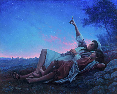 Scripture Painting - Just For A Moment by Greg Olsen