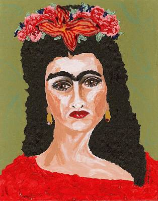 Tribute To Women Painting - Just Frida by Stacey Torres