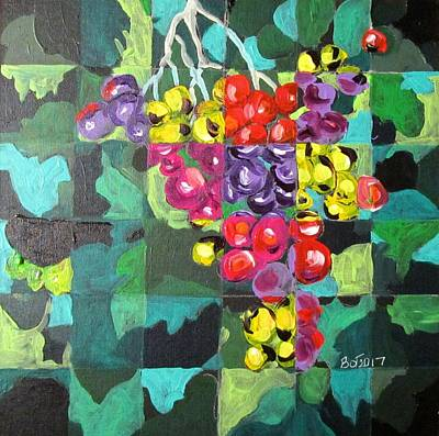 Painting - Just Grapes by Barbara O'Toole