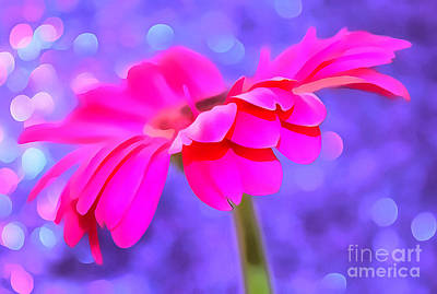 Hot Pink Photograph - Just Happy by Krissy Katsimbras