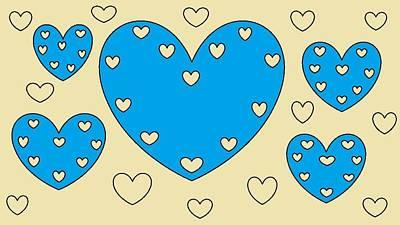 Just Hearts 4 Art Print