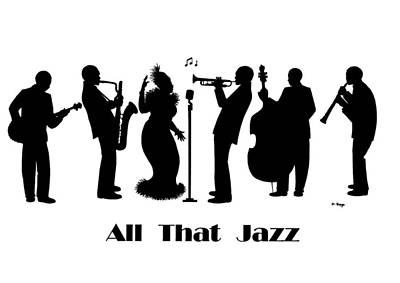 All That Jazz Painting - Just Jazz - The Band by Di Kaye