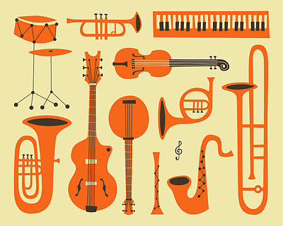 Musical Wall Art - Digital Art - Just Jazz by Jazzberry Blue