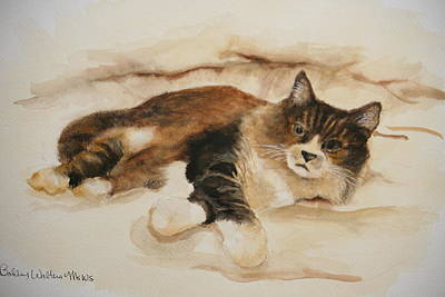 Just Kitty Art Print