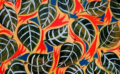 Painting - Just Leaves by Caroline Street