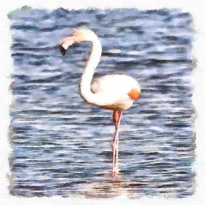 Painting - Just Like A Flamingo by Tracey Harrington-Simpson