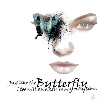 Just Like The Butterfly Art Print