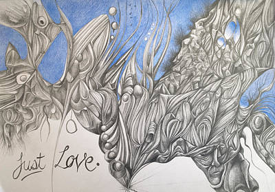 Drawing - Just Love by Piers Le Sueur