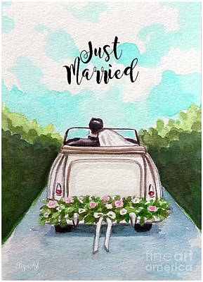 Painting - Just Married by Elizabeth Robinette Tyndall