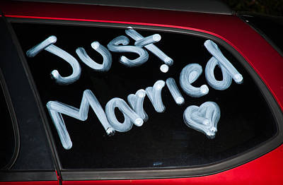 Just Married Photo Art Print