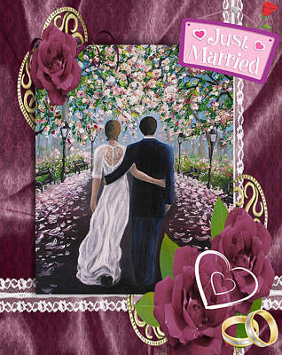Painting - Just Married by Vesna Martinjak