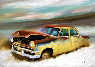 Just Needs A Paint Job Art Print by Susan Kinney