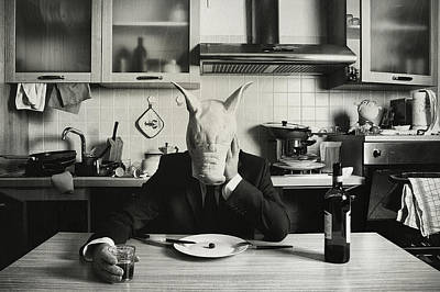 Pig Photograph - Just One Day Alone (family Portrait) by Stefano Miserini