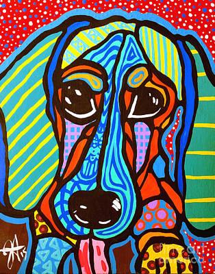Buster Dachshund Designer Dog Series  Original by Jackie Carpenter