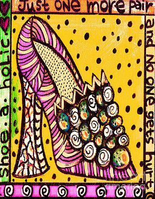 -shoe.a.holic - Hurt Print by Sandra Silberzweig