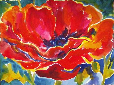 Painting - Just One Poppy  Sold by Therese Fowler-Bailey