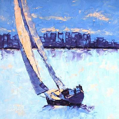 Just Outside Of Boston Art Print by Leslie Saeta