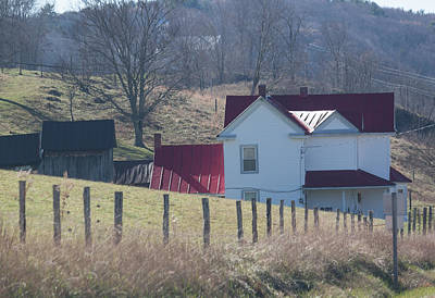 Photograph - Just Over The Hill - Craig County Virginia Scenic by Suzanne Gaff