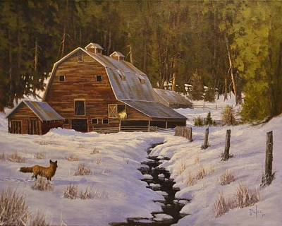 Painting - Just Passing Through by Paul K Hill