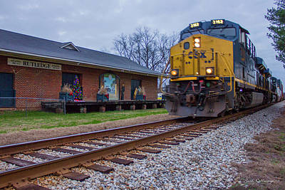 Photograph - Just Passing Thru Rutledge Railroad Station Art by Reid Callaway
