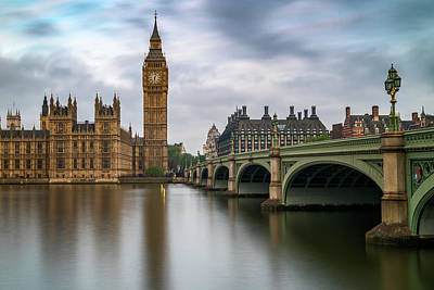 London Skyline Royalty-Free and Rights-Managed Images - Just Past Six by James Udall