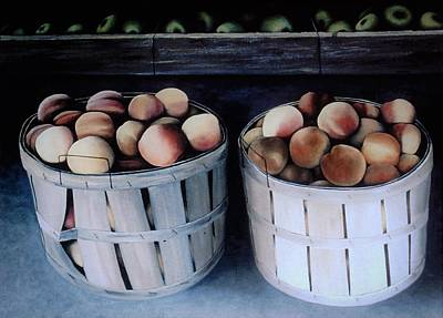 Just Peachy Art Print by Charles Hill